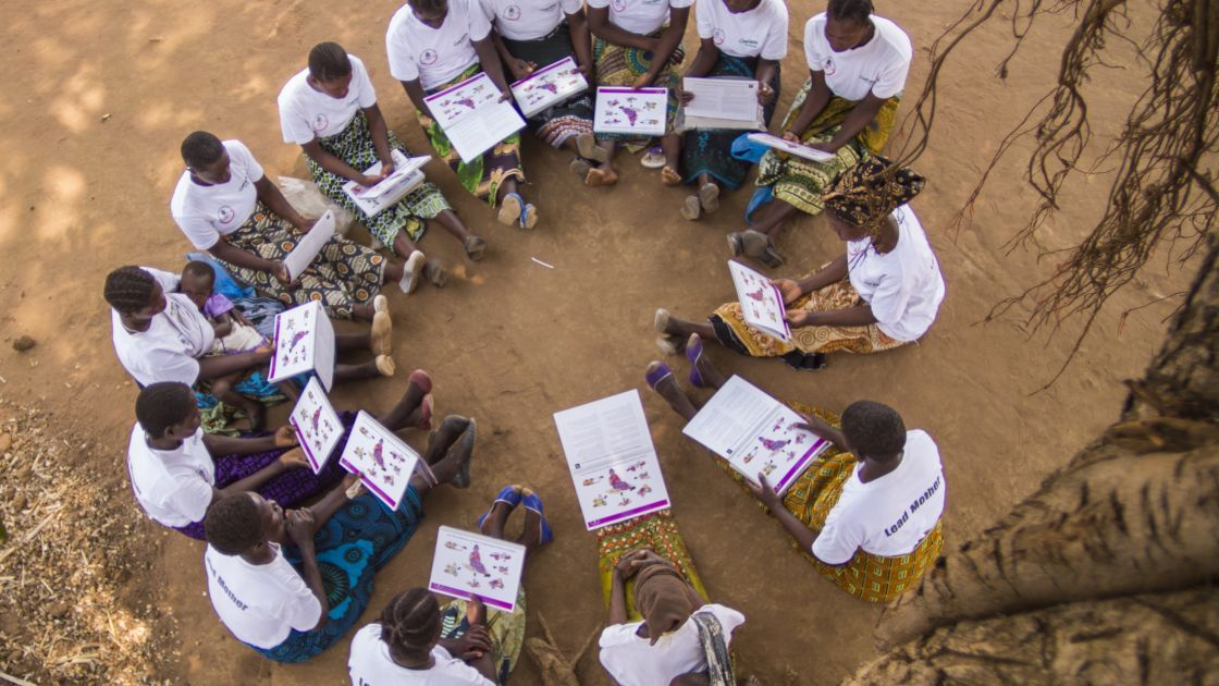 Lead mothers in the village of Dzidzwa, Mchingi District, Malawi. Photo: Kieran McConville / Concern Worldwide.