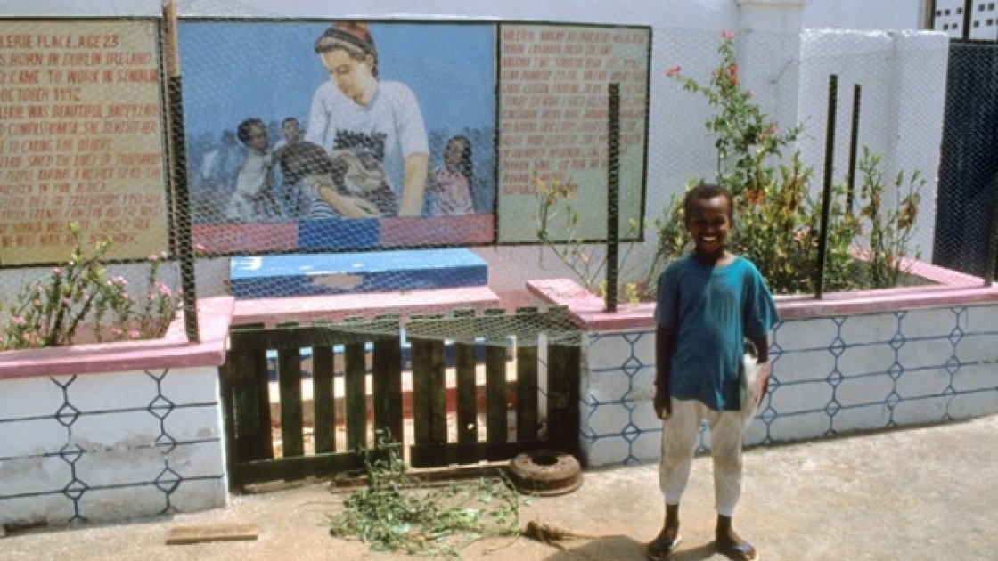 A memorial to Valerie Place in Somalia. Photo: Concern Worldwide
