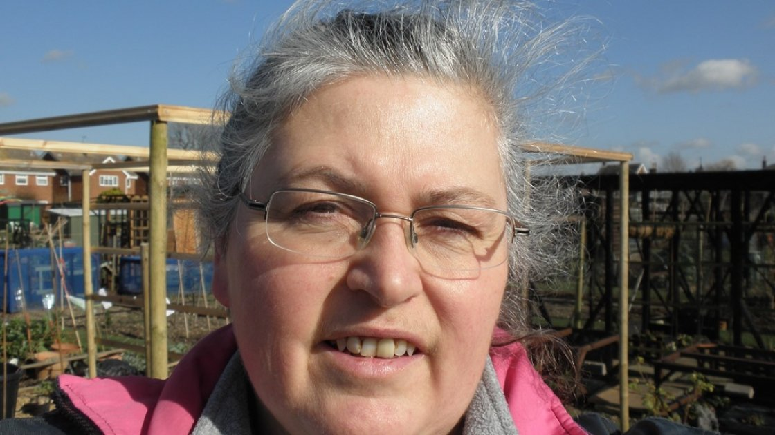 Linda Gruchy has an allotment in a village in Essex