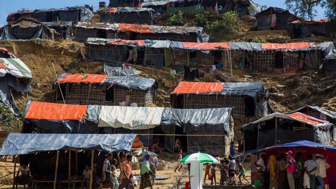 Moynardhona refugee camp, Cox's Bazar, Bangladesh