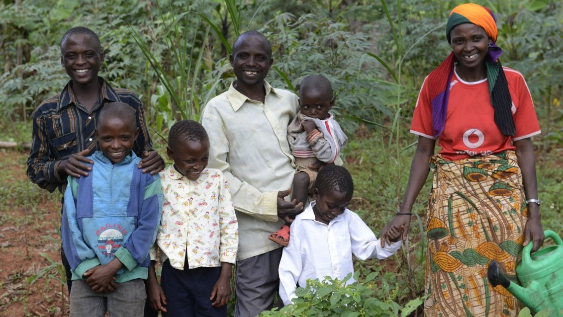 Husband and wife Victoria Macumi and Bosco Nzobarinda earn a living from what they grow on their plot of land and kitchen garden. They have five healthy children – all of them boys, Salomon, David, Issa , Selemani and Isaac.
