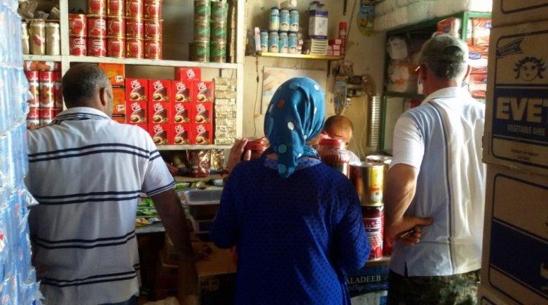 Inside a shop in Syria. Credit: Concern