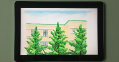 'Elementary school, tall trees and summer wind' in Seoul, South Korea. Artist: Yun Seok Chang