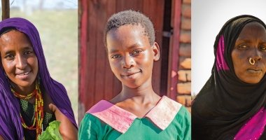 Pictured are Sori Gollo from Kenya, Grace from Malawi and Hdidja* from Chad.