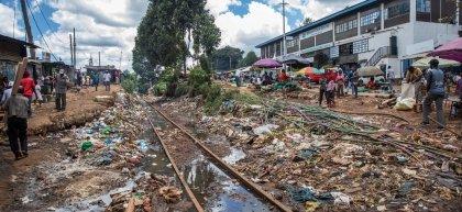 General View of the centre of Kibera Slum, Nairobi, Kenya Photo: Ed Ram / Concern Worldwide