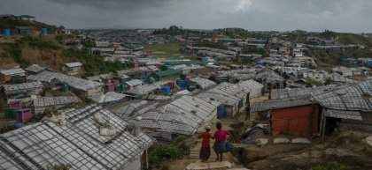 Cox's Bazar Refugee Camp, Bangladesh is the largest displacement camp in the world. Ph