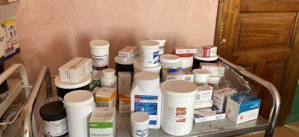 Essential medicines at Maikona Health Centre, Marsabit, Kenya. Photo: Jennifer Nolan / Concern Worldwide