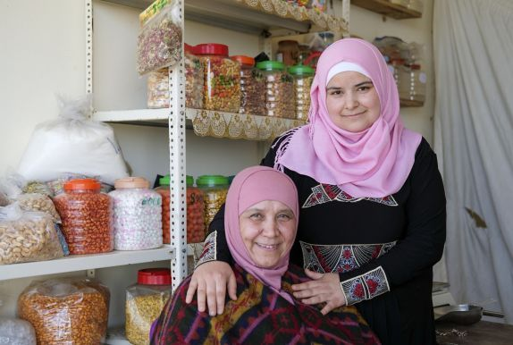 "Bushra and her mum, Dalia. ""My mother is everything to me,"" said Bushra. Photo: Darren Vaughan"