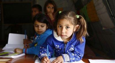 *Farah attends a non-formal education programme in North Lebanon. Photo: Chantale Fahmi/Concern Worldwide 2017.