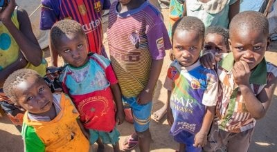 Children of the Nyachikadza Displacement Camp, Nsanje District, Malawi. Photo: Gavin Douglas / Concern Worldwide.