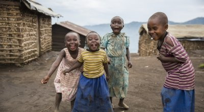 Children playing in Katale, North Kivu, DRC. Photo: Kieran McConville / Concern Worldwide