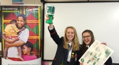 Two FAST Youth Ambassadors from Lurgan Collage and Newry, Ballymoney. Photo: Concern Worldwide / Northern Ireland / 2017