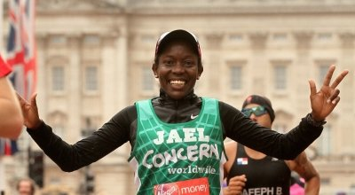 Jael running the London Marathon for Concern
