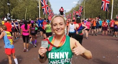 Jenny Flynn running the London Marathon for Concern Worldwide