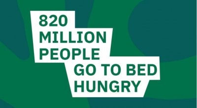 How many people hungry worldwide in 2018
