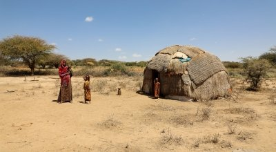 Khayro Ali shares her traditional tukul home with her husband Ishmael and their four children, Ethiopia. Photo: Jennifer Nolan/ Concern Worldwide