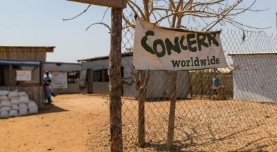 Concern's Nutrition Center in the POC of Juba, South Sudan. Photo: Steve De Neef / Concern Worldwide.