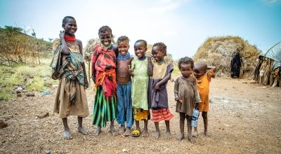 Seven friends from the village of Locheredome, Turkana, Nothern Kenya. Photo: Gavin Douglas