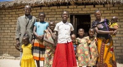 15 year old Liliana Mwenza wa llunga (pictured with her family). DRC. Photo: Kieran McConville