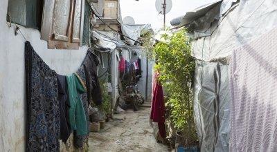 Informal tented settlement in North Lebanon