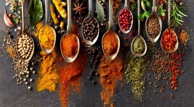 An array of colourful spices