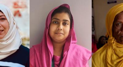 Darine*, Shaikh Jannatul Moushumy and Shleka Yusuf Gule for Women of Concern.