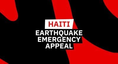 Haiti Emergency appeal graphics
