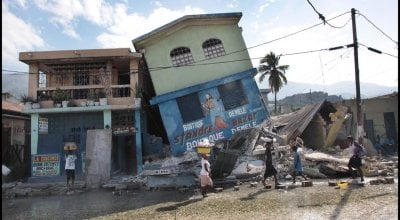 Destruction in Port-au-Prince, Haiti after the earthquake in 2010. Photo: Brenda Fitzsimons.
