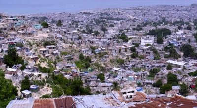 A high shot of Grand Ravine in Port-au-Prince, Haiti, 2014. Photo: Kieran McConville / Concern Worldwide.