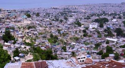 A high shot of Grand Ravine in Port-au-Prince, Haiti, 2014. Photo: Kieran McConville / Concern Worldwide.