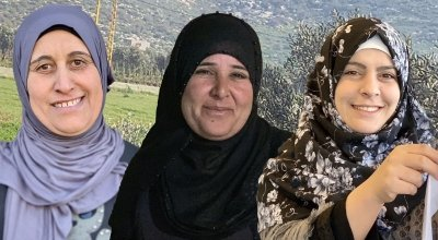 Composite photo of *Khadija, *Nawal and *Lama. Photo: Jason Kennedy/ Concern Worldwide