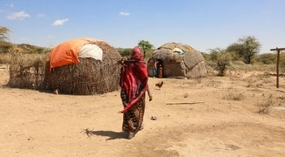 Khayro Ali shares her traditional tukul home with her husband Ishmael and their four children in Filtu, Somali Region, Ethiopia. Photo: Jennifer Nolan/ Concern Worldwide