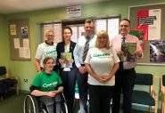 An office team in Antrim fundraising during FAST