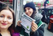 Concern street fundraiser Roberta with Gabriela Grozavu who has just signed up to Through to 2.
