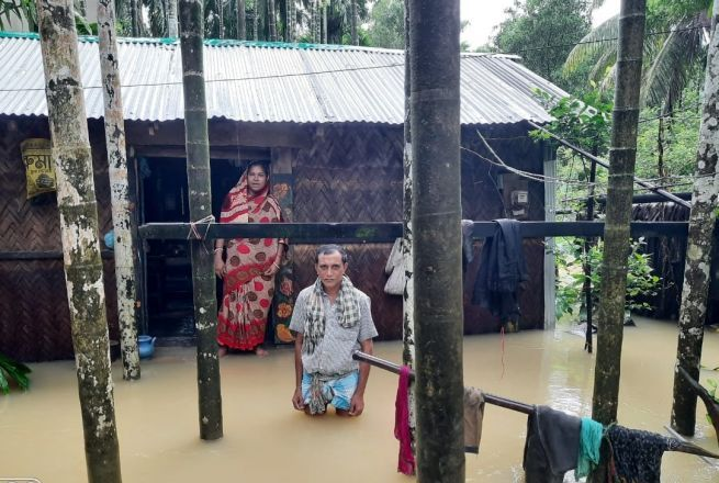 Waterlogging due to flash floods in Bangladesh. Photo: Concern, Cox's Bazar.