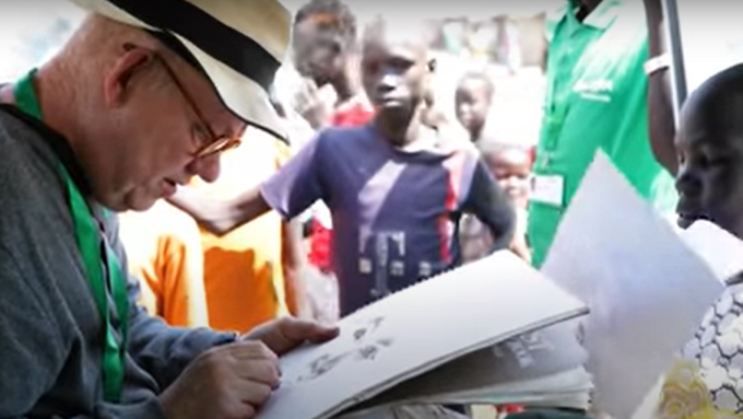 Brian Maguire in South Sudan, YouTube
